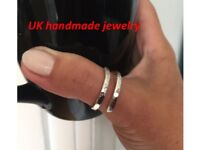 Sterling Silver Thumb Rings Open ring Eco Friendly Hammered Silver Jewellery