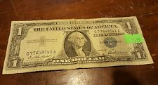 1957 one dollar bill blue seal us Note paper money free shipping