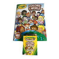 Crayola Colors of the World Coloring & Activity Book With A Pack Of 32 Crayons