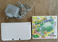 Nintendo 3DS XL Pure White Console + Genuine Charger + Yoshi's New Island