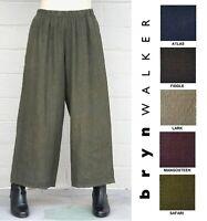BRYN WALKER Light Linen FLOOD PANT Wide Crop Pocket Pants X S M L XL SPRING 2019