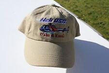 Ball Cap Hat - Heli USA - Helicopter - Oahu Kauai Hawaii (H1672)