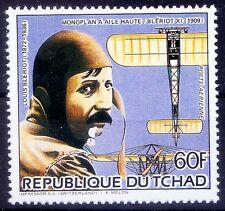 Louis Bleriot, French aviator, Airplanes, Tchad MNH