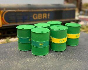OO or O Gauge BP Oil Drums (pack)