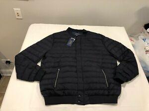NWT $348.00 Polo Ralph Lauren Mens Down Bomber Jacket Navy Blue B&T Size 2XLT