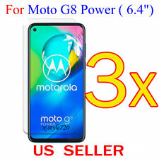 3x Clear LCD Screen Protector Guard Cover Film For Motorola Moto G8 Power (2020)