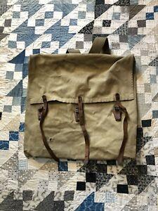 Vintage Canvas Leather MONARCH BRAND Duluth Pack backpack #52 Canoe Portage bag
