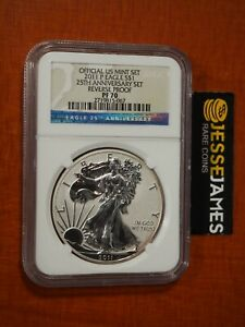 2011 P REVERSE PROOF SILVER EAGLE NGC PF70 FROM THE 25TH ANNIVERSARY SET