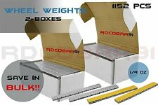 2 Boxes Grey Adhesive Wheel Weights 1/4 Ounce Steel 18lb Total Set 1152 Pieces