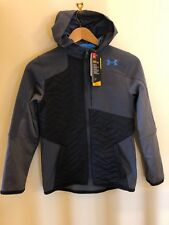 Under Armour Kid's UA ColdGear Reactor Hoodie - YMD (9-10) - Grey