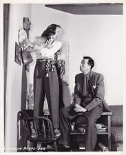 EVELYN KEYES JOHN HUSTON Original CANDID Hollywood Home Vintage CRONENWETH Photo