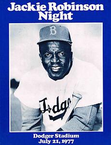 1977 Jackie Robinson Night  Dodger Stadium Commemorative Program