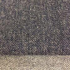 Dark Blue Herringbone Tweed Fabric 100% Wool fabric. Price per 1/2 meter