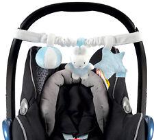 Tiamo Hase MIffy blau Spielkette für den Autositz Maxi Cosi Kinderwagen 765946