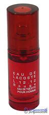 Eau De Lacoste L.12.12 Rouge (Unbox) 0.27oz./8ml Edt Mini spray For Men New