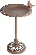 Standing Bird Bath Garden Birdbath Outdoor Feeder Fountain Patio Yard Pedestal