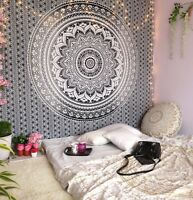 Tapestry Mandala Queen Black & White Ombre Indian Wall Hanging Hippie Wall Decor
