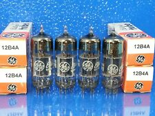 GE 12B4 A  VACUUM TUBE 1967 MATCHED QUAD QTY 4 SUPER SWEET TONE COPPER POST