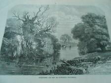 Gravure 1872 - Angleterre Le Parc de Tichborne