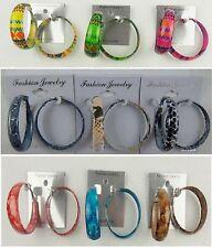 Wholesale Jewelry lots 9 pairs Fashion Colorful  Hoop Earrings US-SELLER SU-200