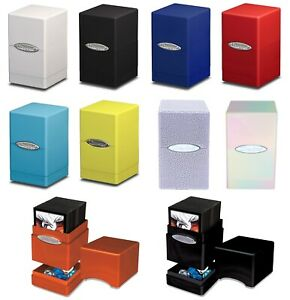 Ultra PRO Satin Tower Deck Box Storage Protector Fits 100+ Standard Cards