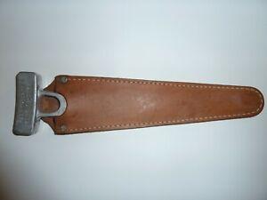 Vintage KNAPP Hunting Hiking Sport Bone Saw Double Edged & Leather Sheath USA