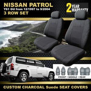 Nissan GU Patrol Y61 Custom Made Seat Covers F+M+R 12/1997-9/2004 GU2 GU3 CHARC