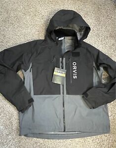 ORVIS PRO Wading Jacket - Black & Gray Size L/Large (2021) 2JM3 1053 $349