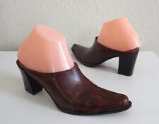 Women's DONALD J. PLINER Perlie Leather Western Slip On Mules Clogs Heels 7M