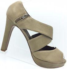 J Crew Heels Lindy Italian Leather Platform Peep Toe Tan Beige Sz 10 Retail $265
