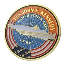 US United States Navy USS John F. Kennedy CV-67 Military Gold Plated Coin
