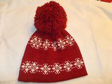 VTG-1980s Andres Wool Pom Pom Tassle Winter Ski Toque Beanie Knit Hat
