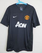 Niños Camisa De Fútbol Nike Manchester United Fútbol Jersey Negro Chicos LB Grande L