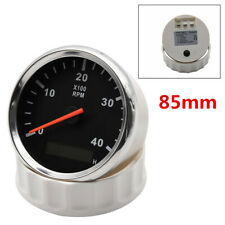 Red Backlight 85mm Car Marine Tachometer Boat Gauge With LED Hourmeter 4000RPM