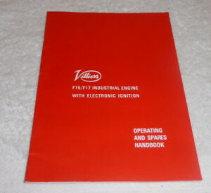 Vintage Villiers F15/F17 engine operating hand book for lawn mowers dated 1986