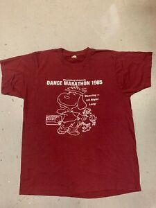 VTG Bloomberg University Dance Marathon 1985 Snoopy Woodstock T shirt - XL