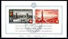 SCHWEIZ 1942 BLOCK7 gestempelt TADELLOS + ORIGINALGUMMI 300€(D4591