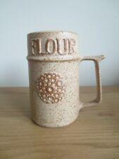 New listingVintage 1970's Pottery Flour Shaker Sifter Retro Kitchenalia Kitchen Cooks