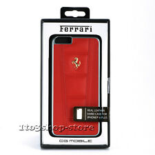 Ferrari Luxury Leather Hard Snap Cover Case for iPhone 6 Plus iPhone 6s Plus Red