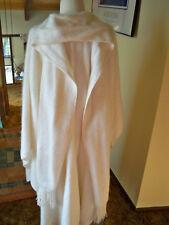 Inca's Inc Alpaca Wool Cape Poncho Winter White Scarf Peru One Size Button Down