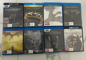 Game Of Thrones Complete Series 4k/Blu Ray