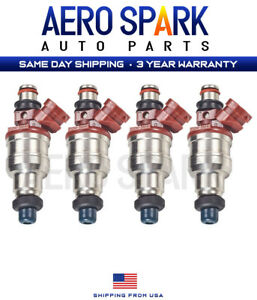 4x Fuel Injectors For Toyota 4Runner Pickup T100 89-95 22RE 2.4L 23250-35040