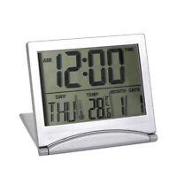 Fashion Digital LCD Weather Station Folding Desk Temperature Travel Alarm Clock