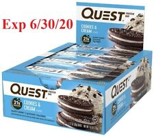 Quest Nutrition Cookies & Cream, High Protein, Low Carb -12ct EXP 6/30/2020