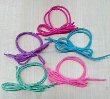 ELASTICI per capelli con fiocco N. 10 pz. fermacoda elastico colori assortiti