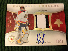 2005-06 Ultimate Collection Endorsed Emblems Patch Auto /35  - roberto luongo