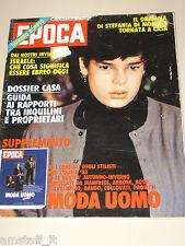 EPOCA=1982/1670=STEPHANIE DE MONACO=BENTLEY MULSANNE=SPECIALE MODA UOMO '82=
