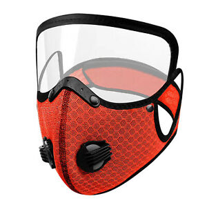 Adult Face Mask Protective Visor Eye Shield Covering Mouth Filter Reusable Cover