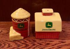 "John Deere ""On the Farm"" Barn and Silo Salt and Pepper Shaker Set"