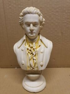 vintage mozart bust statue ornament rare figure approx 21cm tall